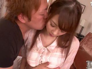 u brunette klem, japanse, nieuw grote tieten video-