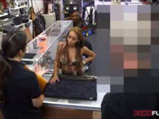 Crazy Bitch Pussy Fucked In The Pawnshop For Some Cash