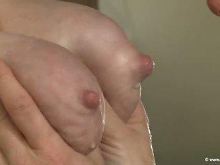 lesbians, huge tits, young old, saggy tits