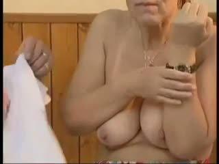 fresh grannies, best old+young scene, online facials clip