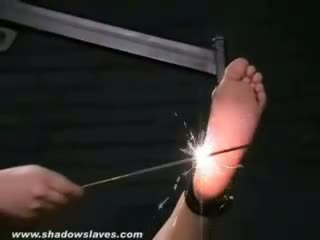 Bound feet and burning soles of electro torment fo
