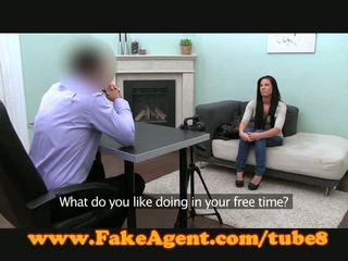 FakeAgent Creampie for nervous blonde amateur