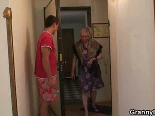 vers grootmoeder actie, controleren oma, kwaliteit volwassen porno
