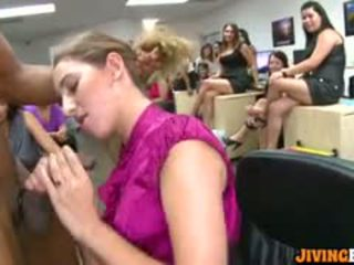 Office Party Ends With Blowjobs