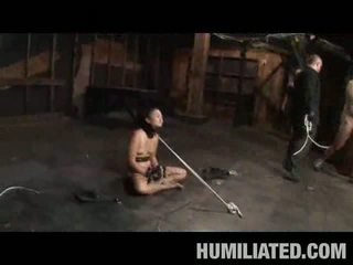 Asiatic adolescenta sclav sperma covered!