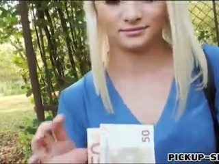 Beuatiful blondie Czech girl Alive Bell fucked for money