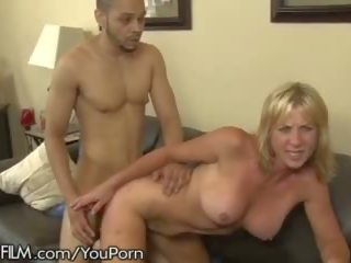Horny Cougar Gives Ass to Daughters Black Husband