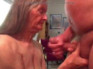 kwaliteit plezier, cum in de mond kanaal, grootmoeder actie