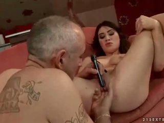 zien brunette mov, seksspeeltjes vid, een extreem neuken