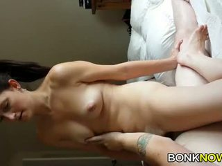 Sexy brunette riding dick