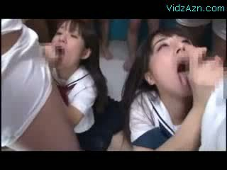 blowjobs, japanese, cum in mouth, gang bang