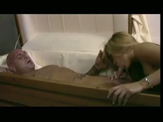 Horny Bitch Bangs a Man in a Coffin, Free Porn c5