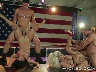 Wicked - asa akira and friends get bokong fucked