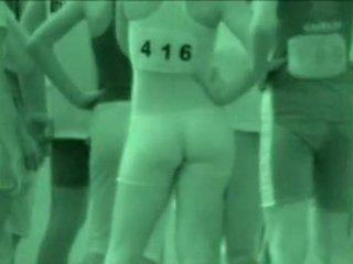 X-ray athlete - sport κορίτσι βλέπω thru