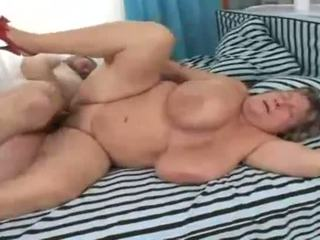Old fat grandma banged on the couch