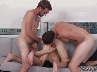 kerel porno, zien homo- scène, controleren 3some