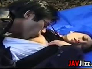 Japanese Schoolgirl Having Sex Outside