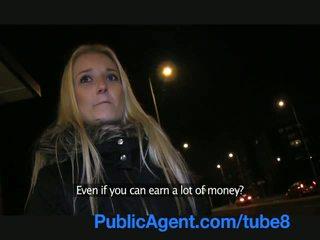 PublicAgent Sexy blonde fucks me in a public place