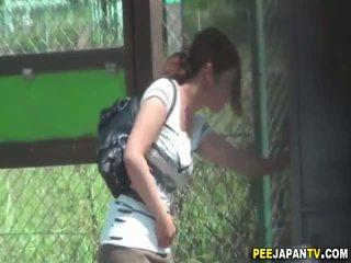 voyeur, piss, outdoors, asian