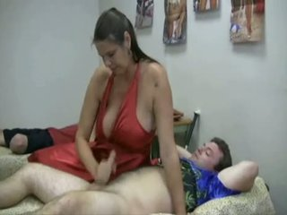 Carrie Moon Giving The Boys A Hand