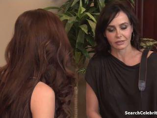 ideaal tieten, lesbiennes video-, plezier brunettes