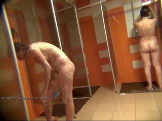 Naked women bathe in the shower 0137