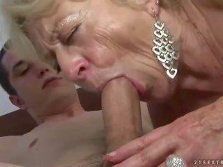 any granny, moms and boys fuck