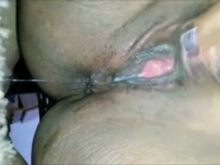 ideal squirting check, nice close up fun, black and ebony