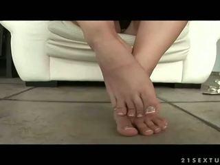 mooi voet fetish, plezier sexy benen, voet aanbidding