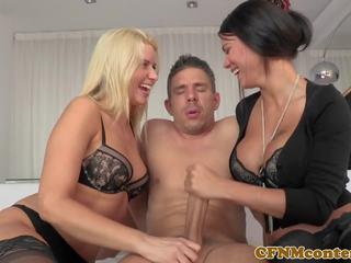 kwaliteit trio video-, lingerie neuken, hq hd porn film