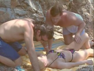 nieuw dubbele penetratie actie, trio, wijnoogst film