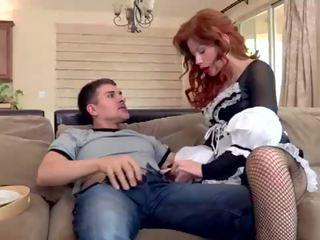 redhead, vol lingerie neuken, mooi meid