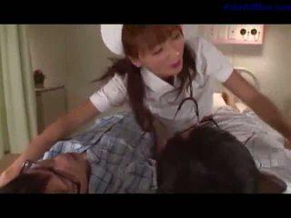 hq verpleegkundigen, zien uniform vid, aziatisch vid