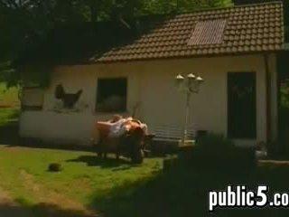 nominale buitenshuis neuken, europese film, buiten film