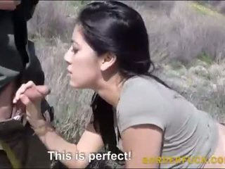 Latina kimberly gates banged av border patrol offiser