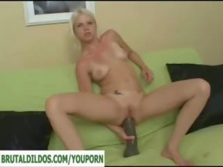 gaping, huge dildo, anal toy