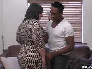 Big Tits Woman in Fishnets Rides Black Cock: Free Porn ca