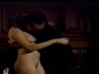 vol brunette, orale seks scène, vers vaginale sex
