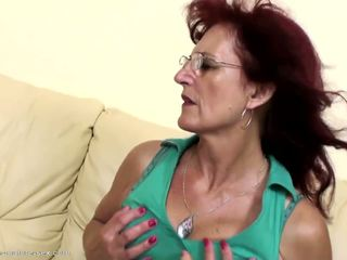 Deep Fisting for Sexy Mature Mom's Hairy Pussy: HD Porn 8c
