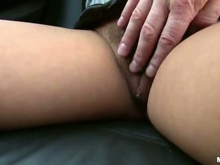 Sex In The Car Together Nearly A Precious White Haired Cutie Zuzana