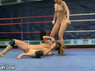 lesbian, lesbian fight, muffdiving, amazon fighters