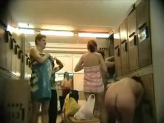 Hot Nude Voyeur In Gym Changing Room