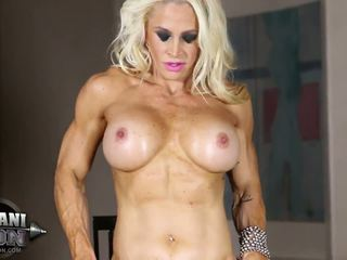 solo girl, muscular, glamour