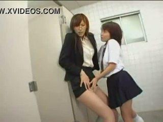 japonais, public, collants