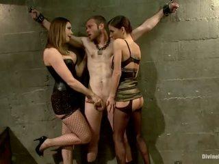 Oustanding meat lazda dude dominated į dame dominavimas ir pegging spektaklis iki 3 nymphs