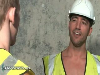 Workers on the construction site gay sex