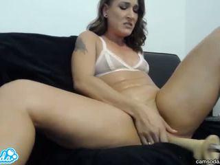 brünett, orgasm, seksimänguasju