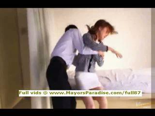 Akiho yoshizawa innocent คนจีน หญิง gets หี licked