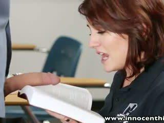 Innocenthigh noor innocent brünett õpilane bangs õpetaja