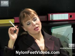 פטיש ברגל, גרב סקס, nylons feet